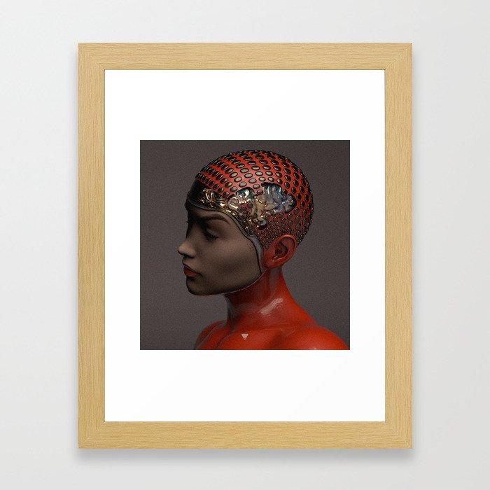 HER MIND ∀ Framed Art Print