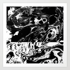 Marble Reverse Art Print