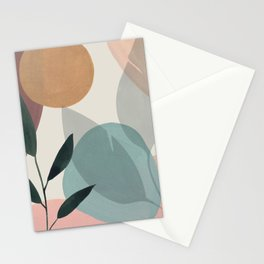 Tropical Leaves Abstract II Stationery Cards