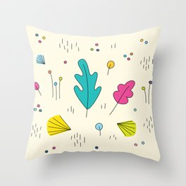 leaves and colors in the forest Throw Pillow