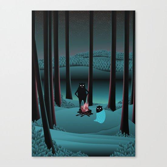 Long Talks Short Nights Canvas Print
