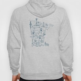 Minnesota Up North Collage Hoody