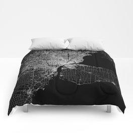 Detroit map  Comforters