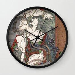 Water by Totoya Hokkei Wall Clock