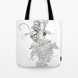 traditional punk rock amoeba Tote Bag