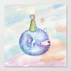Party Hat Bat Canvas Print