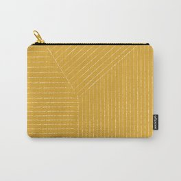 Lines / Yellow Carry-All Pouch