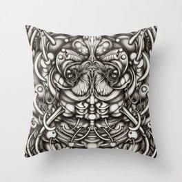 CrabFace Throw Pillow