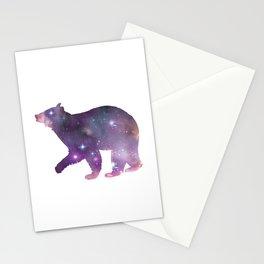 Bear Animal Totem - Galaxy Art - Bear Silhouette - Bear Spirit Animal Stationery Cards