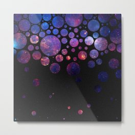 Space Bubbles Metal Print