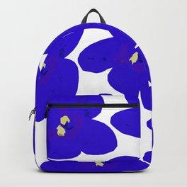 Blue Retro Flowers #decor #society6 #buyart Backpack