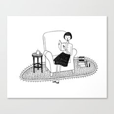 I'll get by as long as I have books Canvas Print