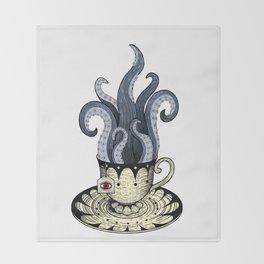 Kraken tea Throw Blanket