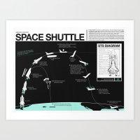 Space Shuttle Mission Diagram  Art Print