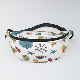 Colorful Christmas Pattern Fanny Pack
