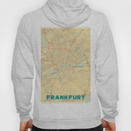 Frankfurt Map Retro Hoody