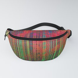 Digital Colorful Lines Fanny Pack