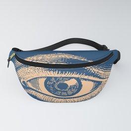 Retro Vintage Blue Eye Pattern Fanny Pack