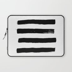 black paint stripes Laptop Sleeve