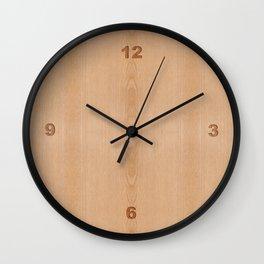 Elegant Light brown wood grain texture Wall Clock
