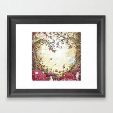 A Watchful Forest Framed Art Print
