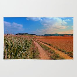 Hiking trail into beautiful scenery II | landscape photography Rug