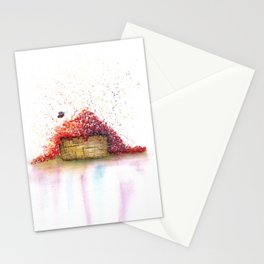 A Basket of Flowers Watercolor Stationery Cards