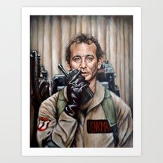 Bill Murray / Ghostbusters / Peter Venkman Art Print