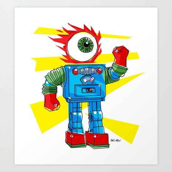 EYE-ROBOT Art Print