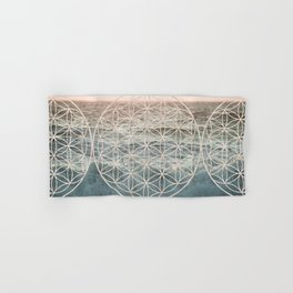 Mandala Flower of Life Sea Hand & Bath Towel