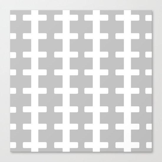 GRAY/WHITE  + Canvas Print