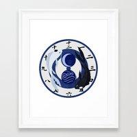 avatar the last airbender Framed Art Prints featuring Avatar The Last Airbender Water Clock Face by Art of Sara