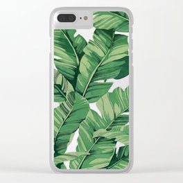 Tropical banana leaves VI Clear iPhone Case