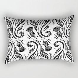 Thistles - Black and White Pattern Rectangular Pillow