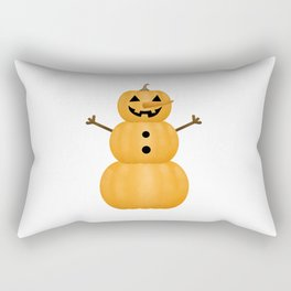 Pumpkin Snowman Rectangular Pillow