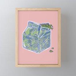 Plant Milk Framed Mini Art Print
