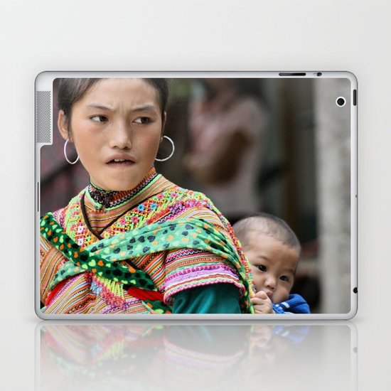 Village Woman Laptop & iPad Skin