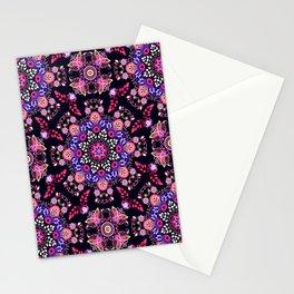 Boho Floral Pattern Stationery Cards