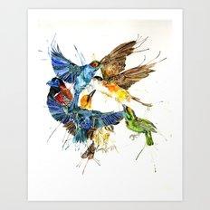 Birds Galore Art Print