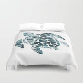 Sea Turtle - Turquoise Ocean Waves Duvet Cover