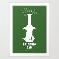 breaking Art Prints featuring Breaking Bad by Oli Phillips