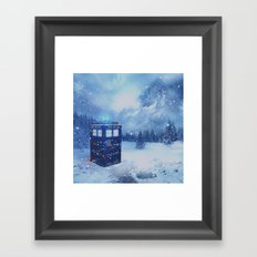 Tardis in Winterland Framed Art Print