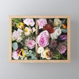 Colorful Flowers Framed Mini Art Print