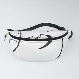 Minimal Line Drawing of Woman Fanny Pack