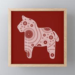 Red Horse Framed Mini Art Print