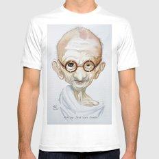Gandhi White Mens Fitted Tee MEDIUM