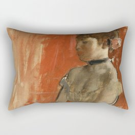 Ballet Dancer with Arms Crossed Rectangular Pillow