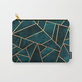 Deep Teal Stone Carry-All Pouch
