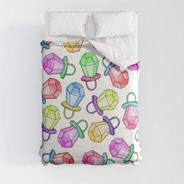 Retro 80's 90's Neon Colorful Ring Candy Pop Comforters