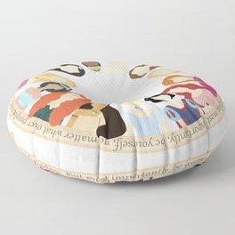 Princesses Floor Pillow